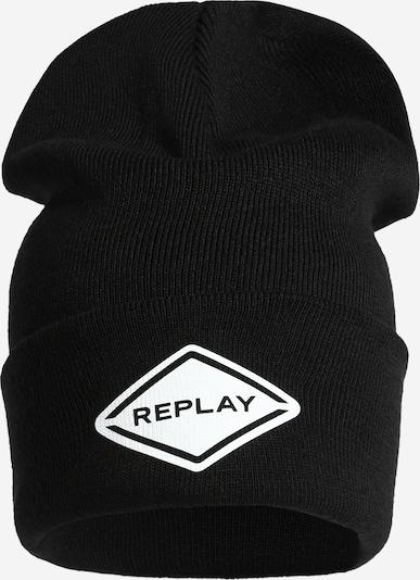 REPLAY Mütze in schwarz / weiß, Produktansicht