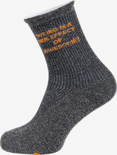 mp Denmark Socken 'Hasle' in basaltgrau / orange / silber, Produktansicht