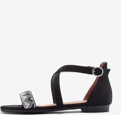 LASCANA Sandaler med rem i sort, Produktvisning