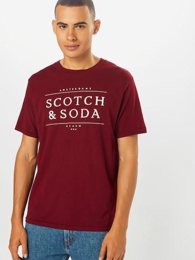 SCOTCH & SODA Shirt in blutrot / weiß: Frontalansicht