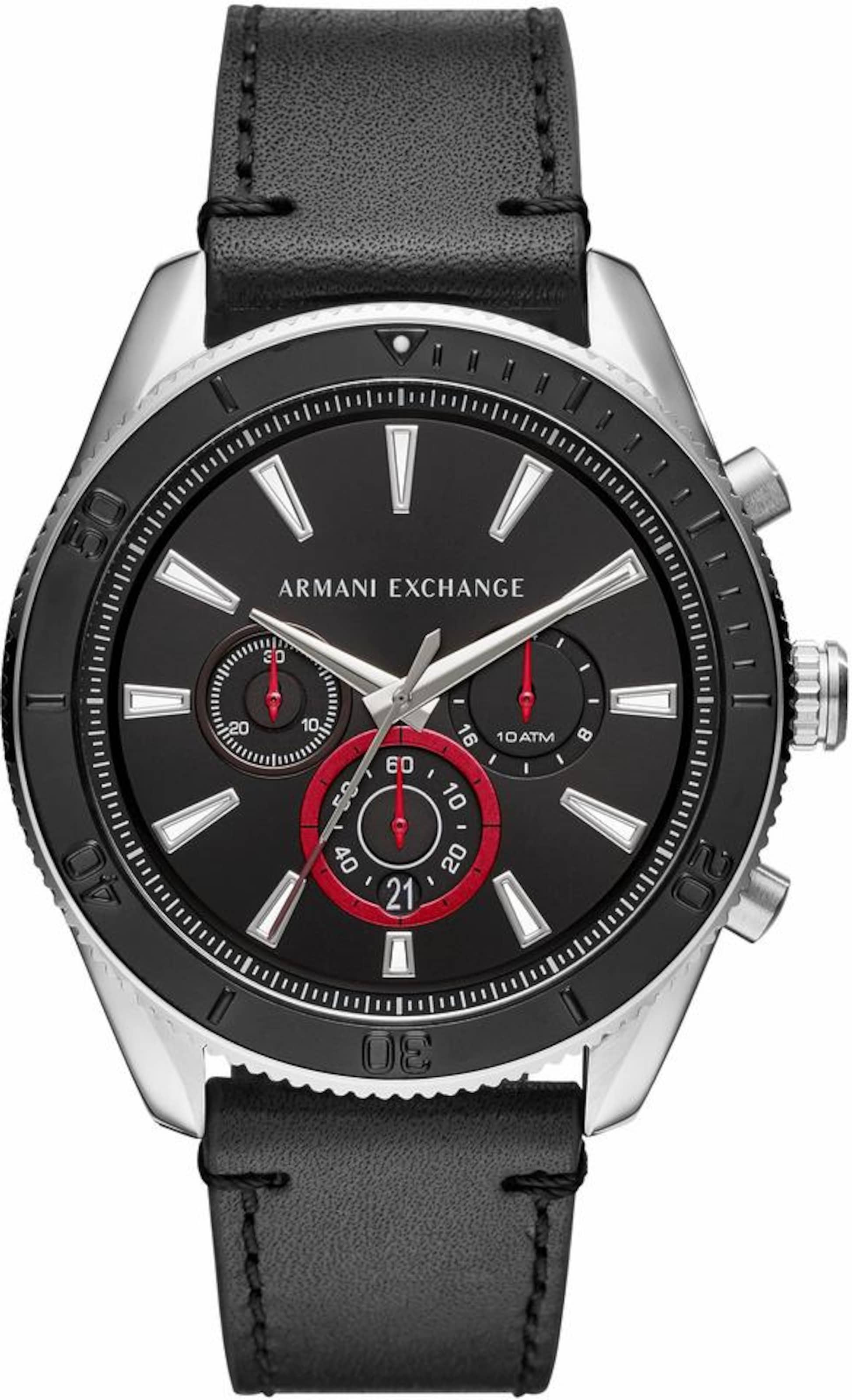 Chronograph Exchange 'ax1817' RotSchwarz Silber Armani In T3FKJl1c