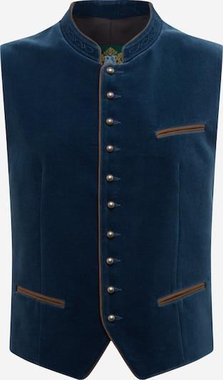 HAMMERSCHMID Bavārijas stila veste 'Albrecht' dūmu zils / brūns, Preces skats