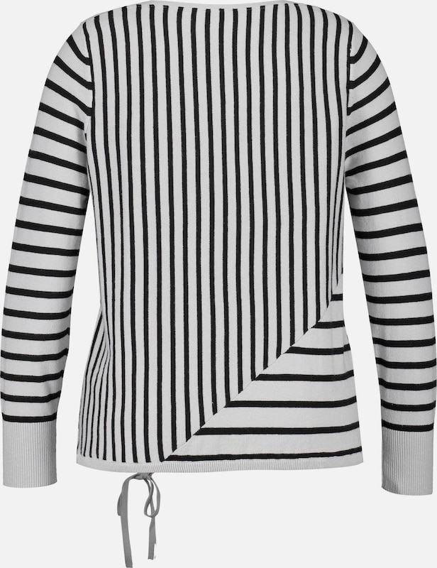SAMOON Pullover Pullover Pullover in schwarz   weiß  Großer Rabatt 418206