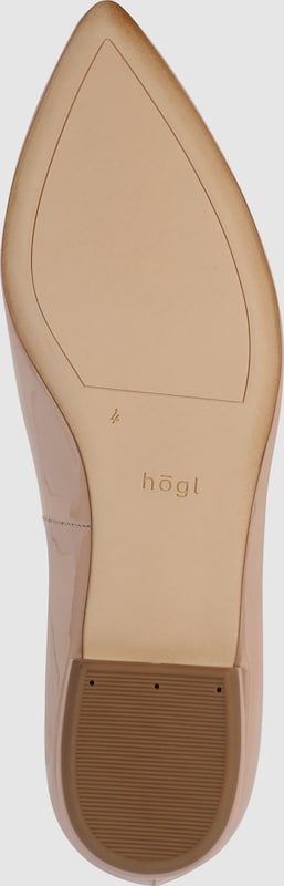 Högl | Ballerinas  Lack Lack Lack nude 4de847