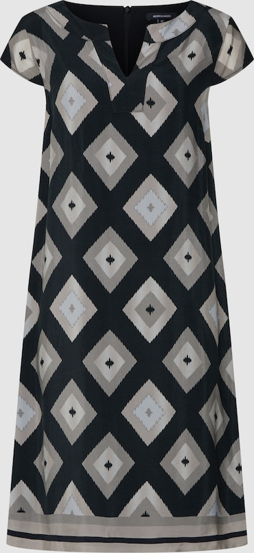 MORE & MORE Kleid in taupe   greige   hellgrau   schwarz  Markenkleidung für Männer und Frauen