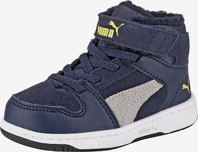 PUMA Sneakers High 'Rebound Lyup Fur SD V' in marine / limone / hellgrau, Produktansicht