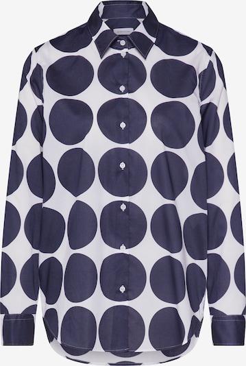 SEIDENSTICKER Bluse 'Schwarze Rose' in dunkelblau / weiß, Produktansicht