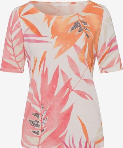 BRAX T-shirt 'Collette' en orange / rose / argent / blanc, Vue avec produit