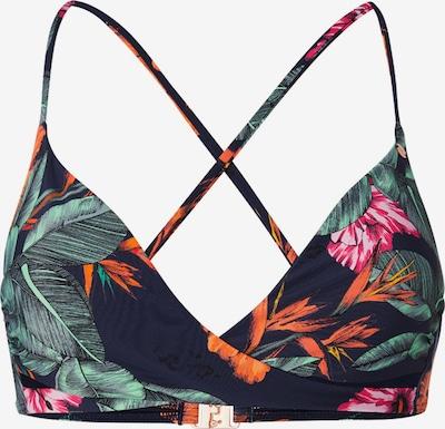 O'NEILL Športen bikini zgornji del | temno modra / zelena / oranžna barva, Prikaz izdelka