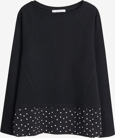 VIOLETA by Mango Sweatshirt 'Jasmine' in de kleur Zwart / Wit, Productweergave