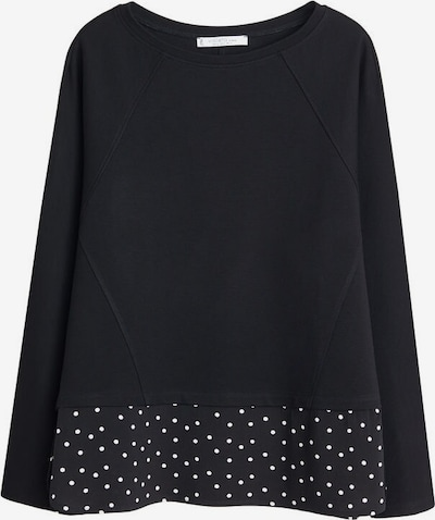 VIOLETA by Mango Sweat-shirt 'Jasmine' en noir / blanc, Vue avec produit