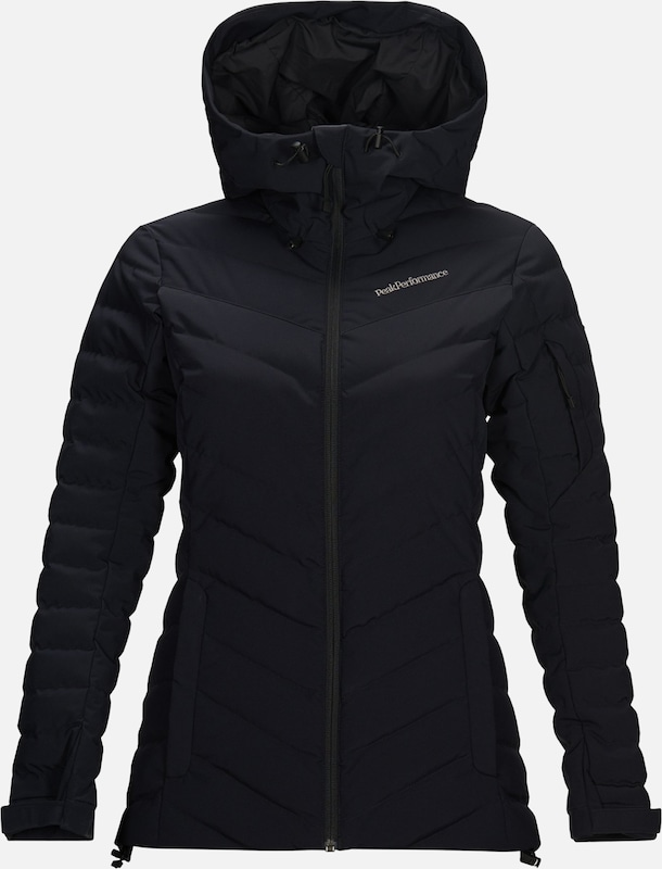PEAK PERFORMANCE Outdoorjas 'Frost' in de kleur Zwart, Productweergave
