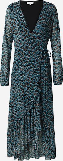 Fabienne Chapot Kleid 'Natasja Frill' in braun / smaragd / schwarz, Produktansicht