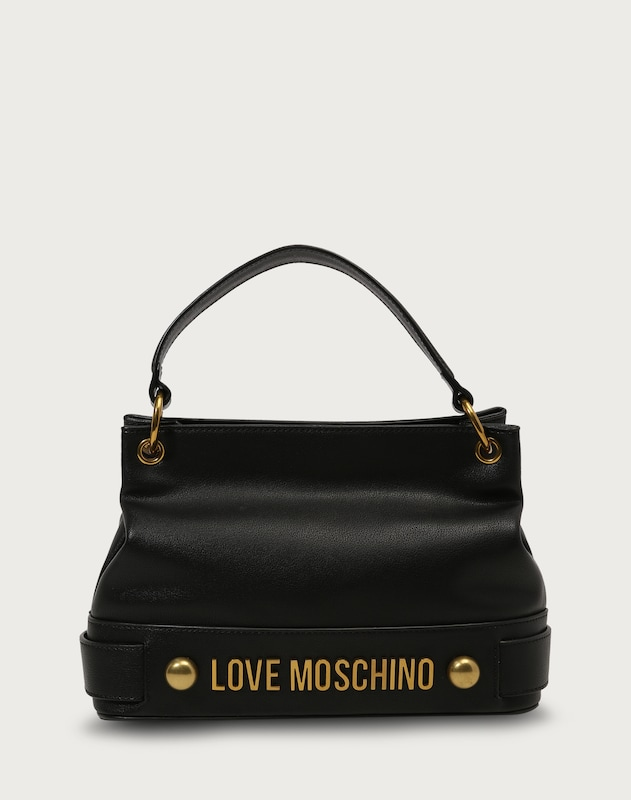 love moschino handtasche mit label schriftzug in schwarz about you. Black Bedroom Furniture Sets. Home Design Ideas