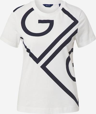 GANT T-shirt en bleu nuit / blanc, Vue avec produit