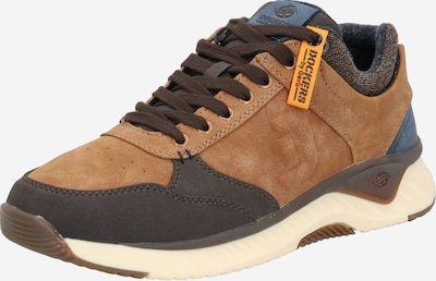 Dockers by Gerli Sneakers laag in de kleur Bruin / Cognac / Taupe, Productweergave