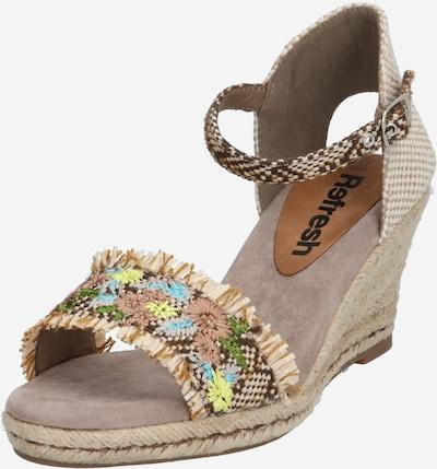 Refresh Sandale '72246' in sand / taupe / mischfarben, Produktansicht