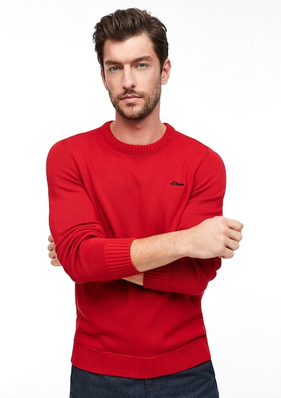 s.Oliver Pullover in hellrot: Frontalansicht
