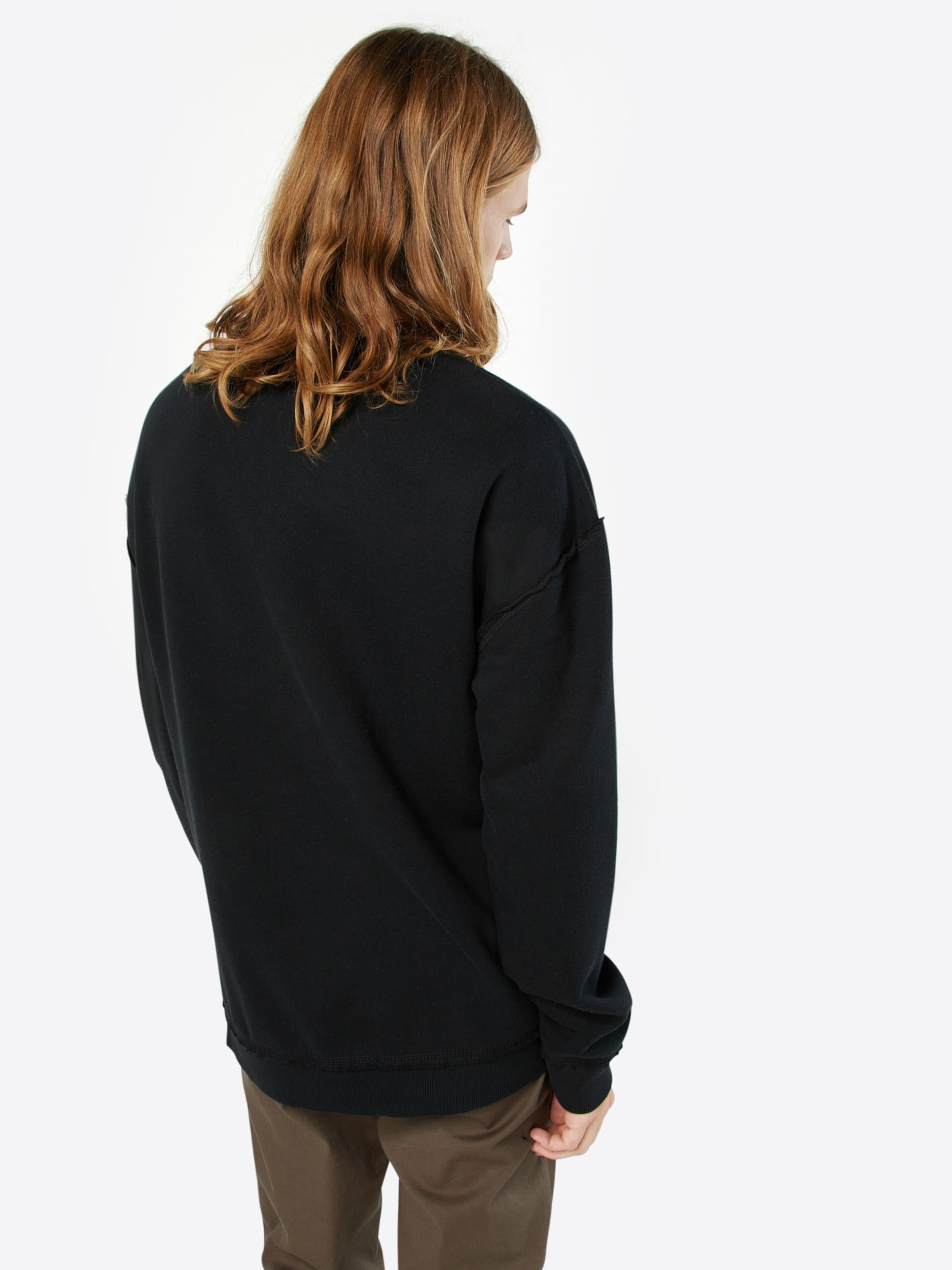 Noir 'open En Urban shirt Edge Classics Crew' Sweat lcK1JTF