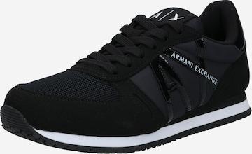 ARMANI EXCHANGE Rövid szárú edzőcipők - fekete