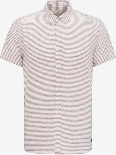 MUSTANG Hemd in weinrot / naturweiß: Frontalansicht