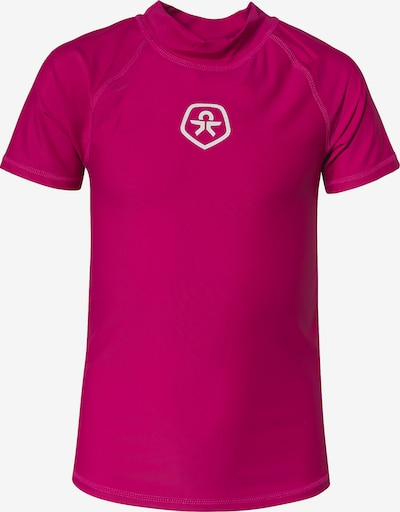 COLOR KIDS Schwimmshirt 'Timon' in cranberry / weiß, Produktansicht