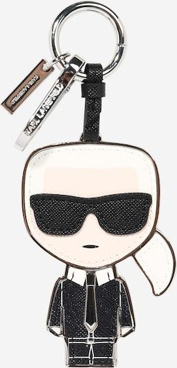 Karl Lagerfeld Schlüsselanhänger 'K/Ikonik' in schwarz / weiß, Produktansicht