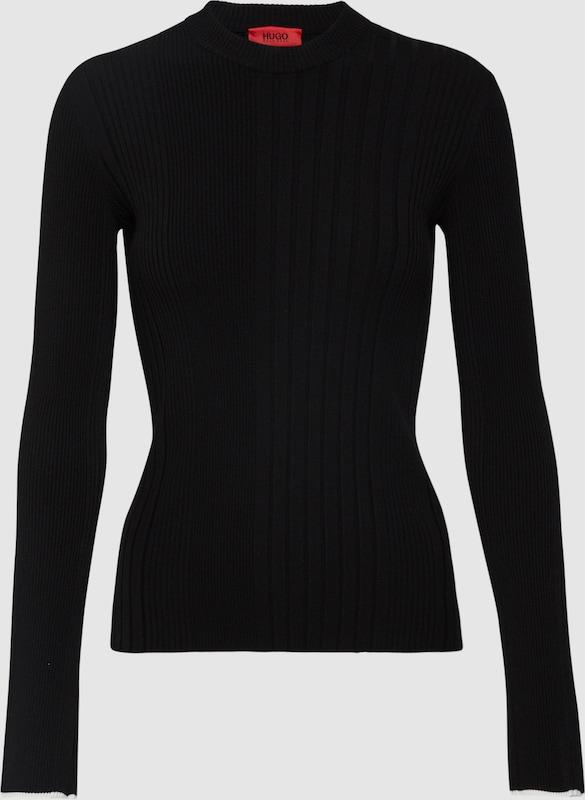 HUGO Pullover 'Spatchy' in schwarz  Neu in diesem Quartal