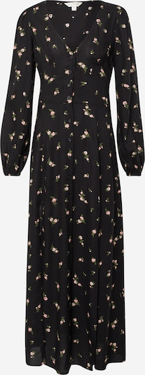 Miss Selfridge Kleid 'LS FLRL BTN THR MAXI' in schwarz, Produktansicht