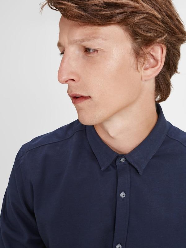 JACK & JONES Button-under-Langarmhemd