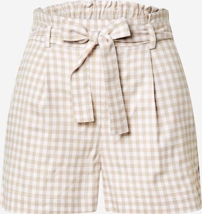 Klostuotos kelnės 'AQEM' iš Tally Weijl , spalva - smėlio / balta, Prekių apžvalga