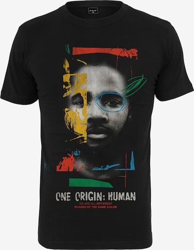 Mister Tee T-Shirt en jaune / gris / vert / rouge / noir: Vue de face
