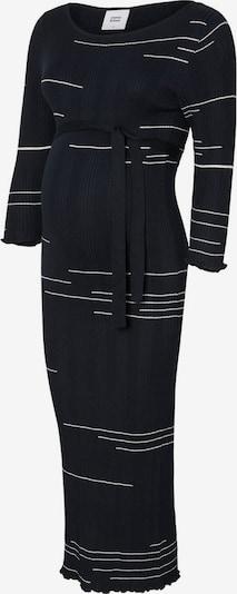 MAMALICIOUS Gebreide jurk in de kleur Nachtblauw / Wit: Vooraanzicht