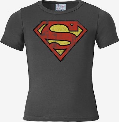 LOGOSHIRT T-Shirt in gelb / dunkelgrau / rot, Produktansicht
