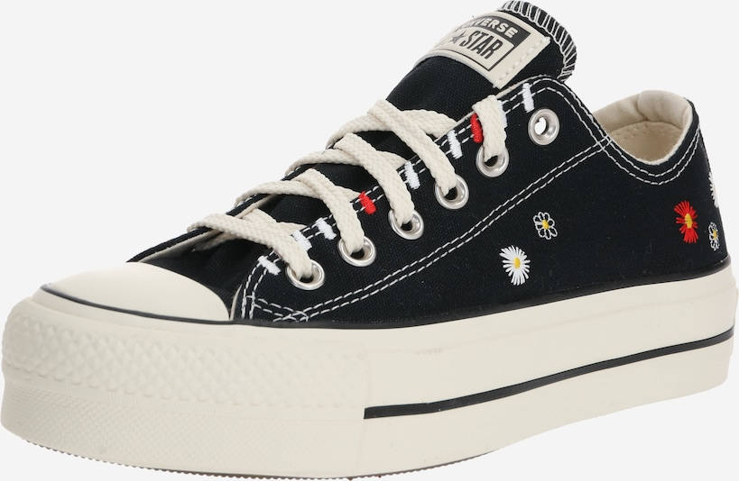 CONVERSE Sneakers laag 'CHUCK TAYLOR ALL STAR LIFT - OX' in de kleur Zwart / Wit, Productweergave