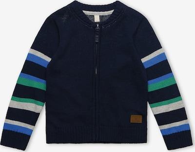 ESPRIT Strickjacke in nachtblau / himmelblau / grau / grün, Produktansicht