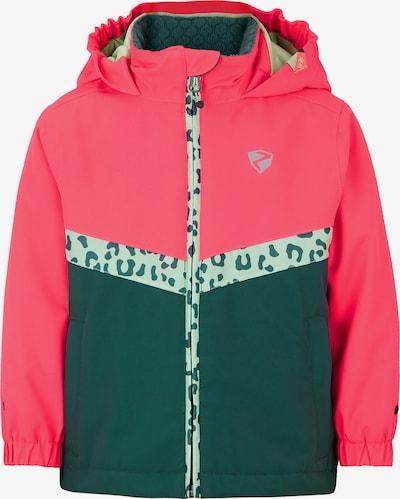 ZIENER Skijacke in dunkelgrün / pink, Produktansicht
