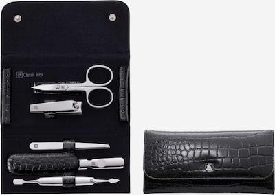 ZWILLING Druckknopfetui, 5-tlg., Kroko-Lack, schwarz in schwarz, Produktansicht