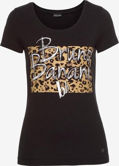 BRUNO BANANI Kurzarmshirt in beige / schwarz / weiß, Produktansicht