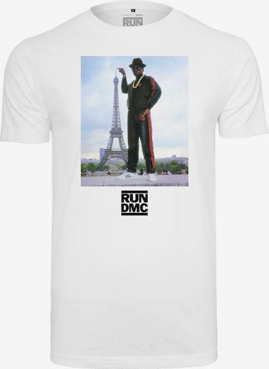 Mister Tee T-Shirt 'Run DMC Paris' in mischfarben / weiß: Frontalansicht