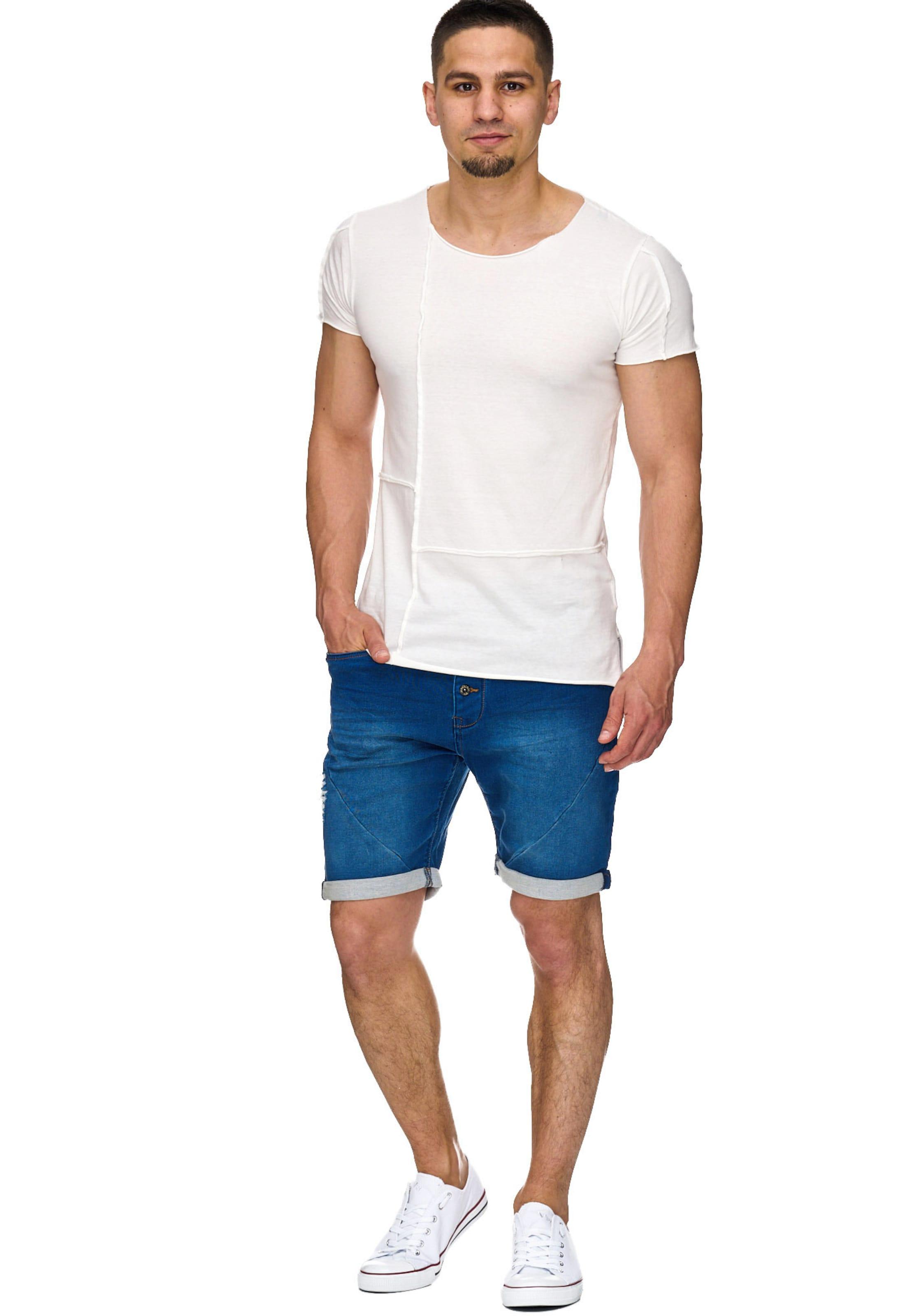 Jeans Navy 'piano' Shorts In Indicode Xn0PwOkN8