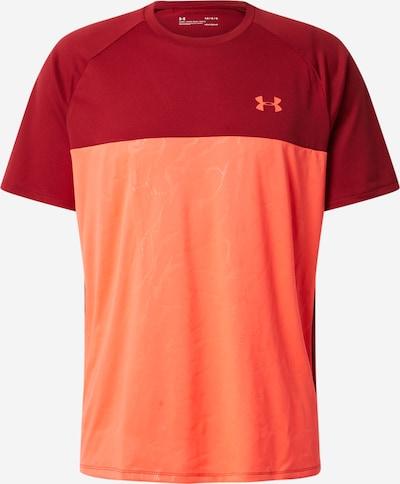 UNDER ARMOUR Funkční tričko 'UA Tech 2.0 SS Emboss' - červená / bordó, Produkt