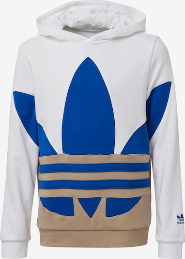ADIDAS ORIGINALS Hoodie 'Large Trefoil' in dunkelbeige / blau / weiß, Produktansicht