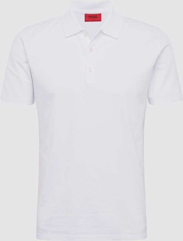 HUGO Poloshirt 'Dohran 10205383 01' in weiß  Markenkleidung für Männer und Frauen