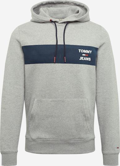 Tommy Jeans Sweatshirt in dunkelblau / hellgrau / rot, Produktansicht