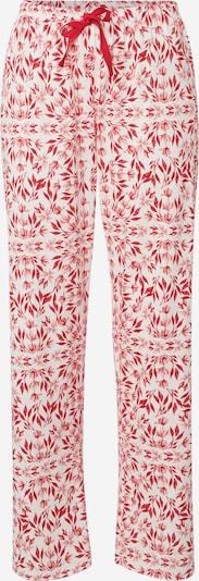 CALIDA Spodnji del pižame | svetlo rdeča / bela barva, Prikaz izdelka