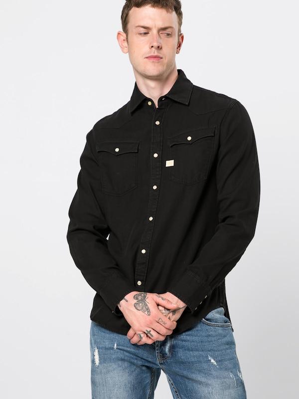 En star Shirt Raw Noir Chemise L G '3301 s' c3LqAR5S4j