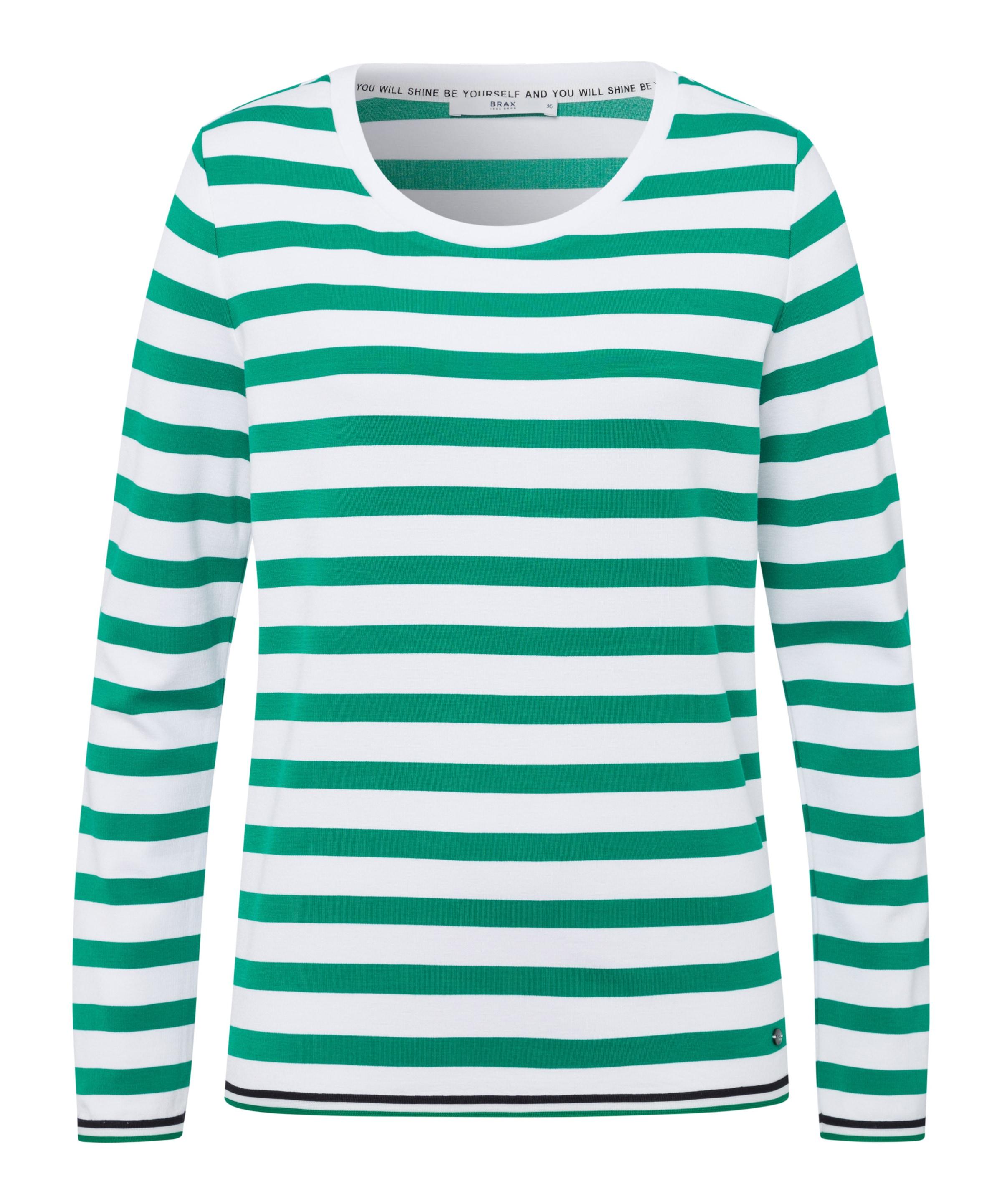 'bobbie' Brax GrünWeiß Shirt In 4S3Acj5LqR