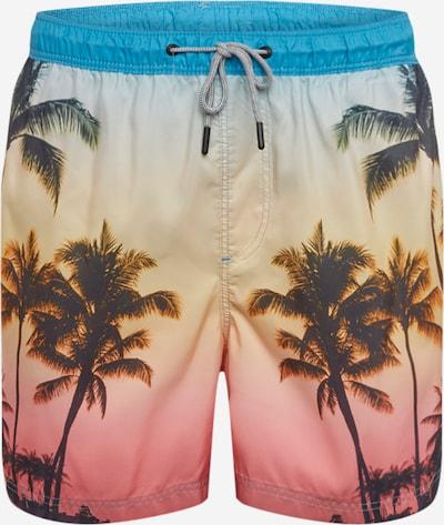 JACK & JONES Shorts de bain en mélange de couleurs, Vue avec produit