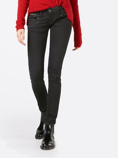 Herrlicher Jeans 'Piper Slim Denim Black Stretch' in black denim: Frontalansicht
